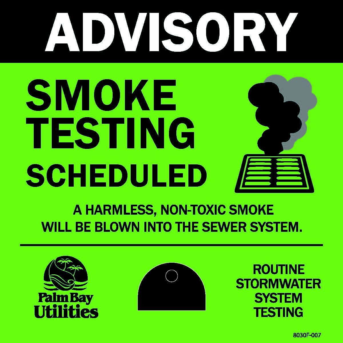 Yard Stake for Smoke Testing Notice