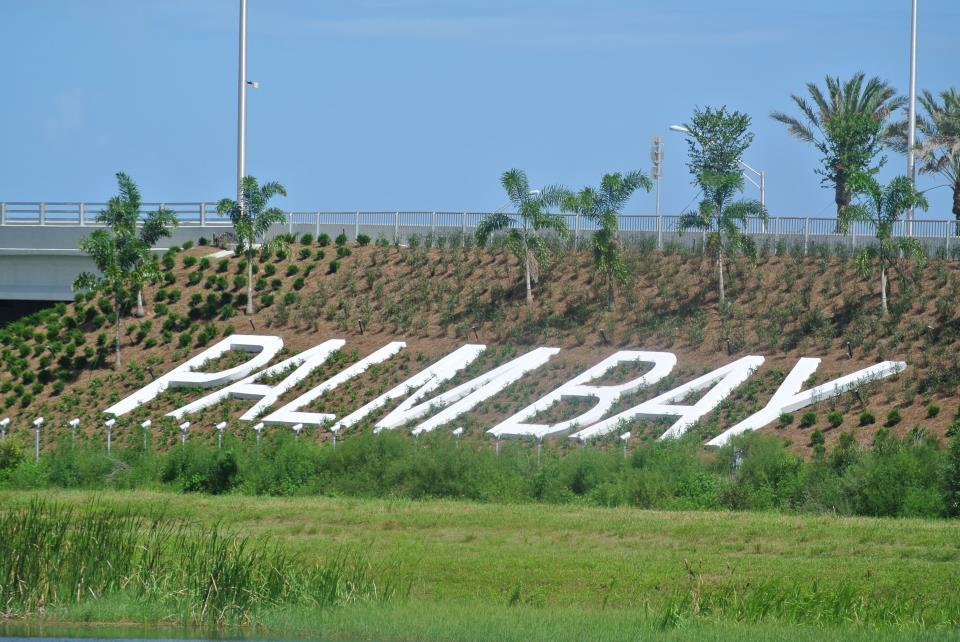 Palm Bay Lettering on I-95