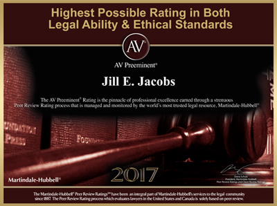 Jill Jacobs AV Martindale-Hubbell Rating