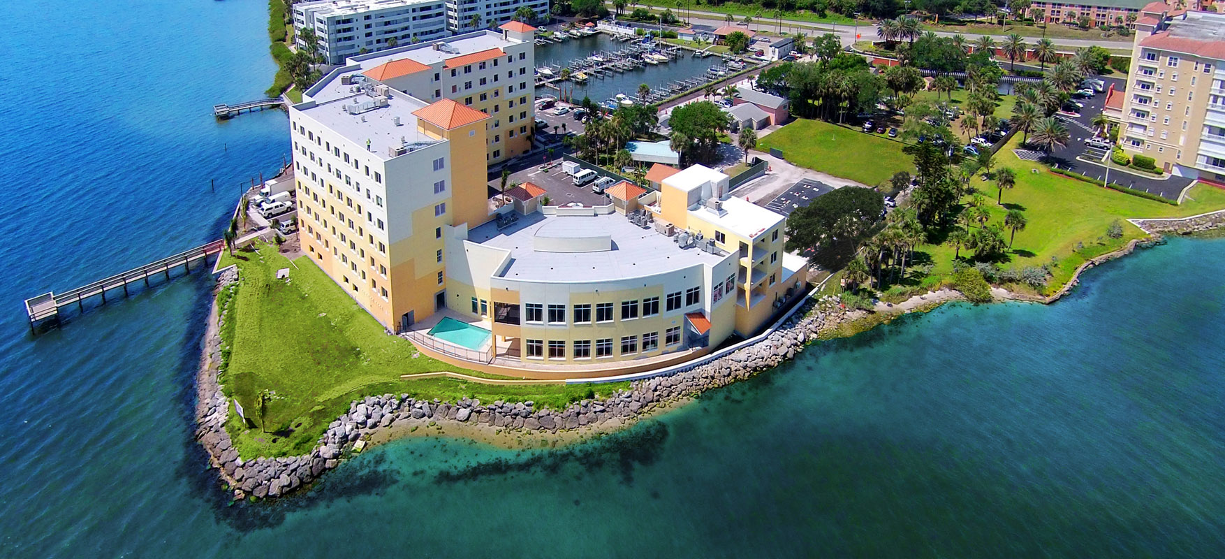 Aerial of Riverview Senior Resort Living