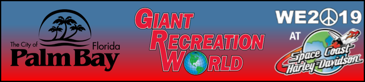 Presenting Sponsors - City of Palm Bay, Giant Recreation World, WE2019 at Space Coast Harley Davidson